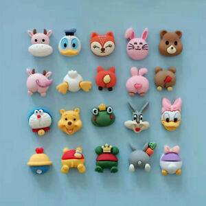 20pc Mixed Matching Resin Animals Heads & Butts Flatback Buttons Decoration 20mm