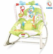 Unisex Baby Rocker Swing Reclining Chair Bouncer Lay & Play Hanging Toys 0m
