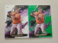 Pedro Severino (2) Lot 2021 Topps Inception Green Parallel + Base Card #50