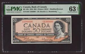 Canada 🇨🇦 1954 - $50 Mod. Portrait - Beatie/Rasminsky - PMG Choice UNC 63 EPQ