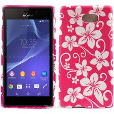 Fundas y carcasas color principal rosa de silicona/goma para teléfonos móviles y PDAs Sony