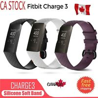 For Fitbit Charge 3 Watch Band Replacement Silicone Bracelet Wrist Strap S & L