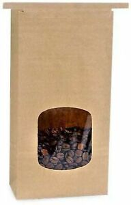 Made in USA 100-Count Brown Kraft Paper Tin Tie 1 Pound Coffee Treat Candy an...