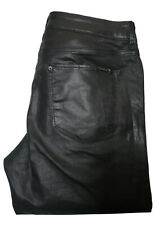 ZARA Women's Black Coated Faux Leather Pants Skinny EUR 40 Slim Fit Medium Rise