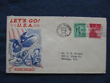 WWII Patriotic Cover Axis Snakes & US Boot Cachet 1943 Fort Worth Texas Cancel