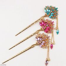 Antique Chinese Handmade Classic Hair Clasp Hairpin Alloy Embroidery Stick Bun
