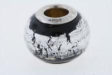 Bacio Sterling Silver 10mm Black & Silver Bead