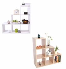 6 Cube Wooden Bookcase Shelving Display Shelves Storage Unit Wood Shelf Kids