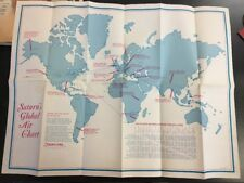 Vintage  Saturns Global Air Global Chart Map B49