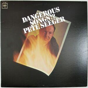 PETE SEEGER Dangerous Songs!? LP 1966 FOLK VG++ NM-