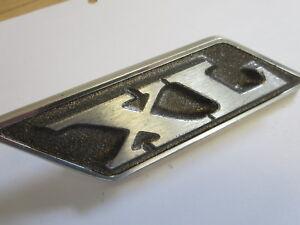 NOS 1970 Ford XL roof pillar sail panel emblem medallion nameplate badge