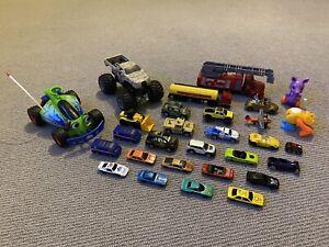 Bulk lot toy cars trucks plane Monster Jam Hot Wheels CAT ToyStory MotorMax