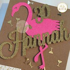 Flamingo Cake Topper, Flamingo Party Flamingo Cake,Custom Flamingo Cake Topper 2