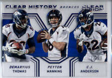 C.J. Anderson/Demaryius Thomas/Peyton Manning /99 2016 Clear Vision History Blue