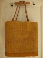 Grand sac, panier, cabas paille tissée jaune NEUF  plage ou autre