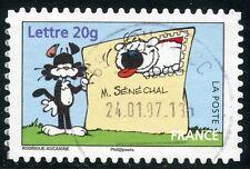 TIMBRE DE FRANCE  OBLITERE N° 3953 / AUTOADHESIF N° 86 LE CHIEN CUBITUS