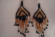 Peruvian Alpaca Silver & Multistrand Bead Drop Earrings~uk seller~MS1