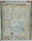 1991 YELLOWSTONE Map POSTER 28x22 White Bear Map Co. on posterboard Jo Mora