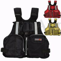 Adult Life Jacket Vest Multi Pocket Lifejacket Buoyancy Aid Safe Sailing Fishing