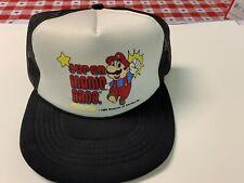 Nintendo Super Mario Bros Hat. 1989 VTG. Mesh SnapBack Trucker Hat Baseball Cap