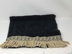 The Avanti Look Hand Towel Black w/ Gold Trim