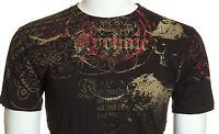Archaic AFFLICTION Men T-Shirt FOOT SOLDIER Skull Tattoo Biker MMA M-4XL $40