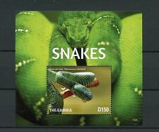 Gambian Snakes Postal Stamps