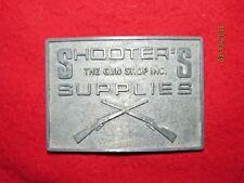 Shooter's Supplies Gun Shop West Middlesex, PA Metal Belt Buckle