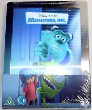 MONSTERS, INC. New 3D & 2D Blu-Ray STEELBOOK Lenticular magnet Disney Pixar Film