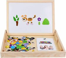 Jqp Xl Wooden Magnetic Letters Numbers Animals Set |16'' x 12'' inch | 151 Pcs |