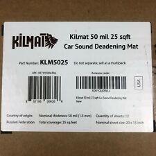 Kilmat 50 Mil 25 Sqft Car Sound Deadening Mat Butyl Automotive Deadener Audio