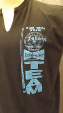 VTG  Budweiser Beer Pool Dart League sz Lrg Bullseye Team