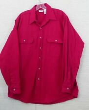 Five Brother  Mens Flannel Shirt SZ L Red Solid  100% Cotton