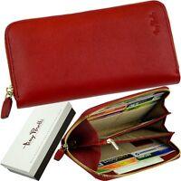 tony perotti DAMEN-GELDBÖRSE - red purse, ECHT SAFFIANO LEDER ROT GELDBEUTEL neu