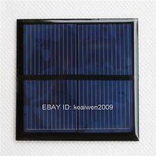 2PCS 1V 500mA 0.5W mini solar panel power epoxy solar plate for small motor 60mm