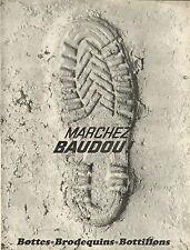 Publicité Advertising 1966  Chaussure BAUDOU botte brodequin pret à porter