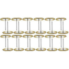 """24PC Mounted 1 1/2"""" Brass Wire Wheel Rotary Brush Works W/ Dremel Foredom Tools"""