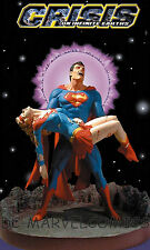 DC DIRECT SUPERMAN & SUPERGIRL CRISIS ON INFINITE EARTHS PORCELAIN STATUE MIB