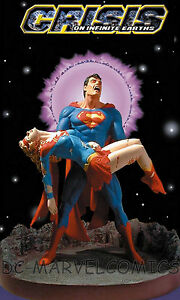 DC DIRECT SUPERMAN & SUPERGIRL CRISIS ON INFINITE EARTHS PORCELAIN STATUE MIB