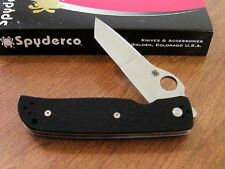 SPYDERCO New Terzuola G-10 Handle Double Bevel Plain Edge Tanto Bld Knife/Knives