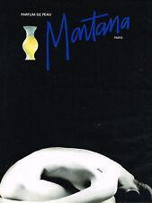 PUBLICITE ADVERTISING   1993   MONTANA   parfum de peau