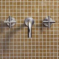 Dornbracht Tara Bathroom Wall Mounted Basin Mixer Tap Silver 36712890-06