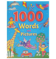 CHILDRENS KIDS XLARGE GORGEOUS PADDED 1000 Words & Pictures Book by BROWN WATSON