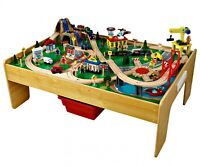 Adventure Town Railway Train Set and Table with EZ Kraft Assembly and 120