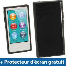 Noir Étui Housse Case TPU pour Nouveau Apple iPod Nano 7ème Génération 7G 16GB