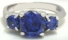 TANZANITE 2.68 Carats RING 14k WHITE GOLD ** Free Shipping Service **