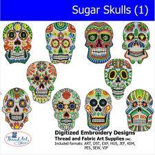 Machine Embroidery Designs -Sugar Skull(1) - 10  designs - 9 Formats - Threadart