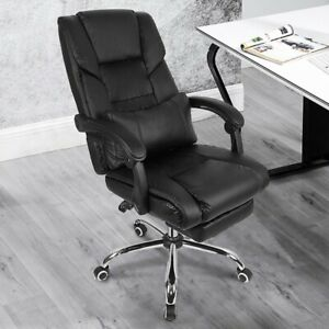 Adjustable Office Chair Quality gaming Ergonomic Chair Black Foot Rest