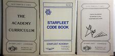 Vintage Star Trek Starfleet Academy Training Manual Booklet Set of 3- Code +