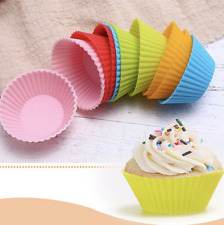 12 Baking Cupcake Liner Baking Moulds Round Shape Silicone Cupcake Mould Maker M